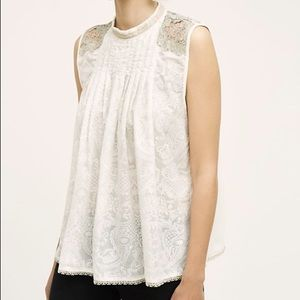 NWOT Anthropologie Tiny Pizzo Lace Tank Size S